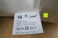 Etikett: Kissenoutlet24 2 Stück Füllkissen Basic 40x40 cm Öko-Tex Standard 100