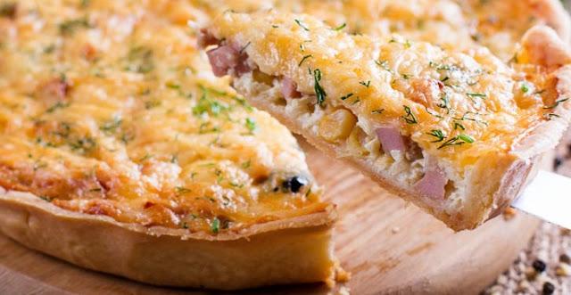 receita de torta rapida de frios queijo e presunto