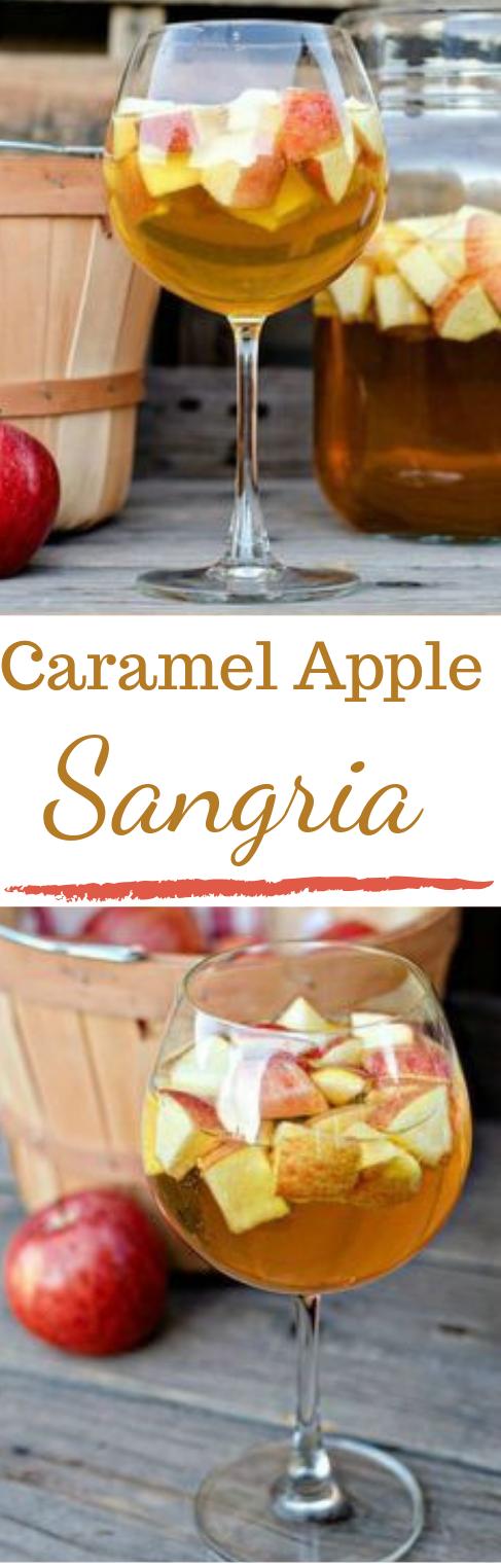 Caramel Apple Sangria #caramel #healthydrink