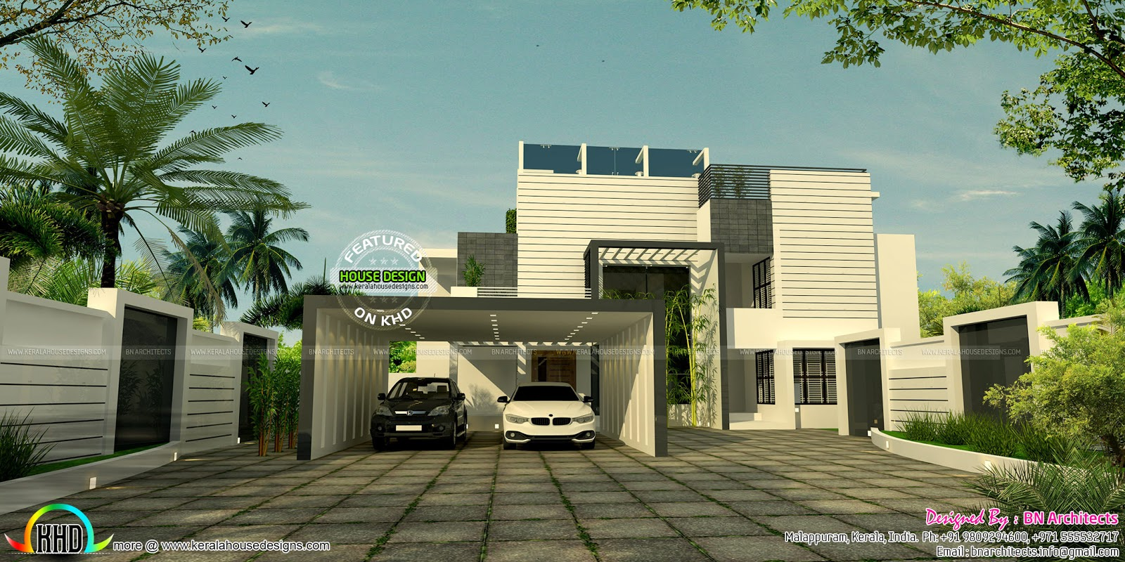 Kerala home design and floor plans awesome interior views - Modern exterior house designs india ...