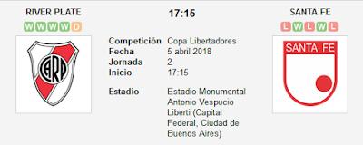 River Plate vs Santa Fe en VIVO