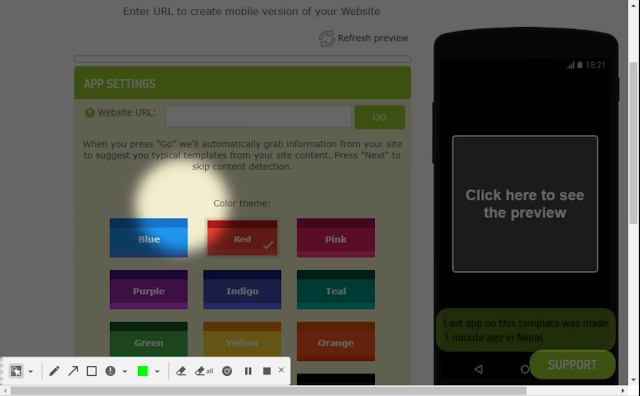How to create an app on android: