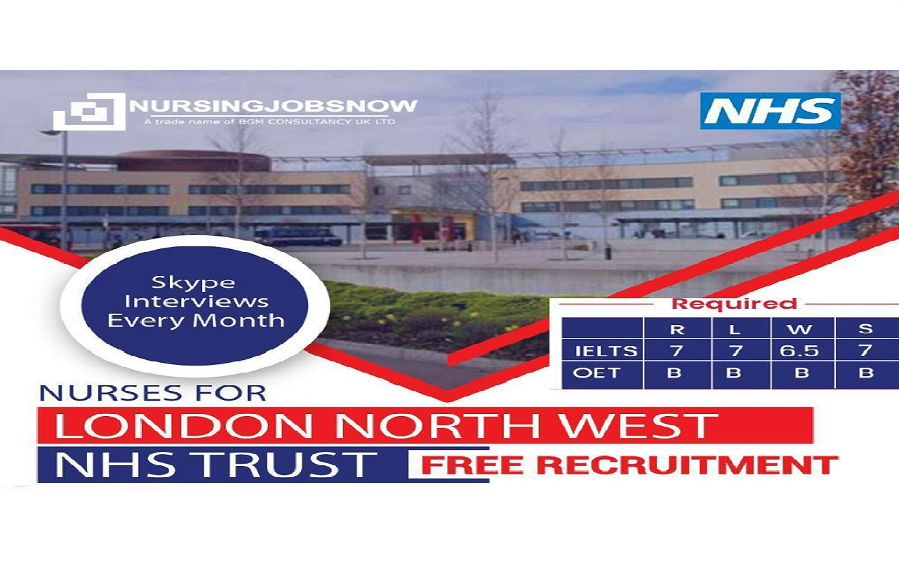 Staff Nurse Free Recruitment to London North West Hospital - NHS Trust In UK