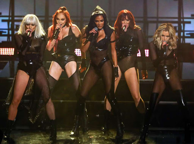 Nicole Scherzinger and the Pussycat Dolls wear VERY sexy outfits during reunion