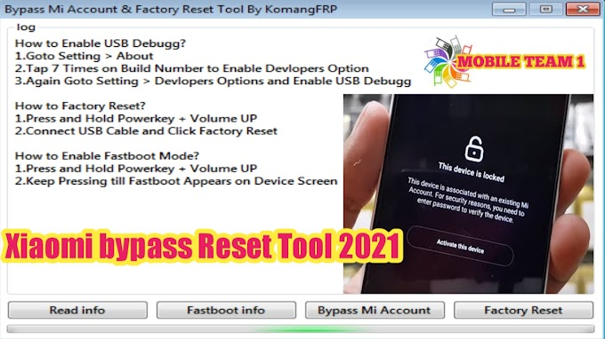 Xiaomi bypass Mi Account & Factory Reset Tool 2021, ADB Mode, Fastboot Mode