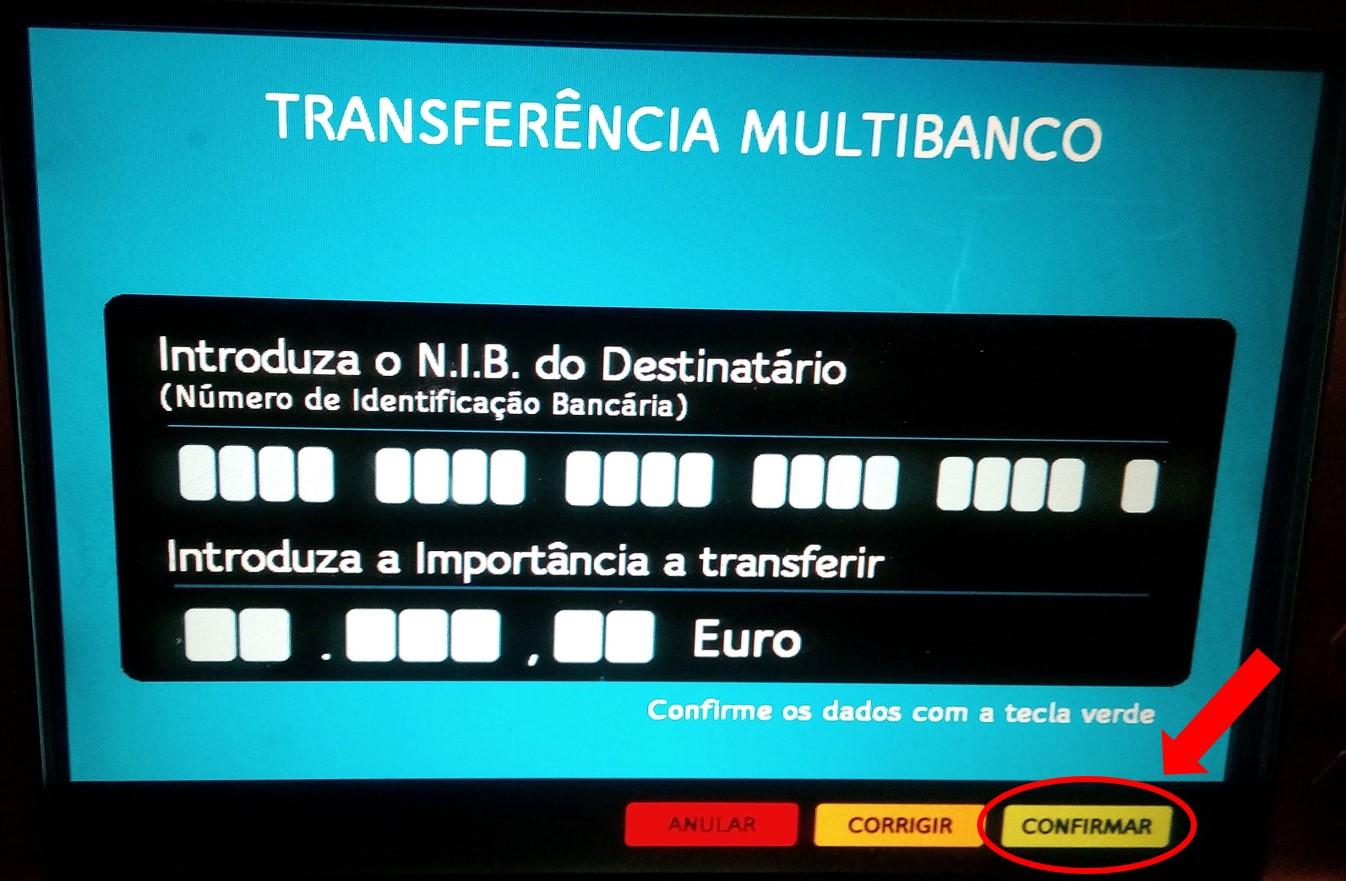 Como fazer uma transferencia bancaria no multibanco