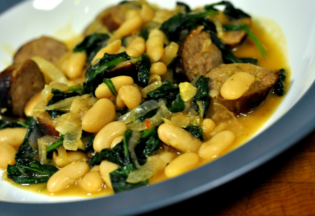 Italian Sausage and White Bean Stew   Get the recipe on Taste As You Go!
