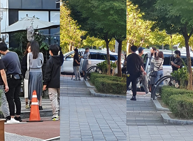 Fantaken pictures of Sooyoung filming 'Run On'