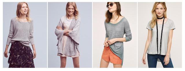 Базовая одежда серого цвета gray basics