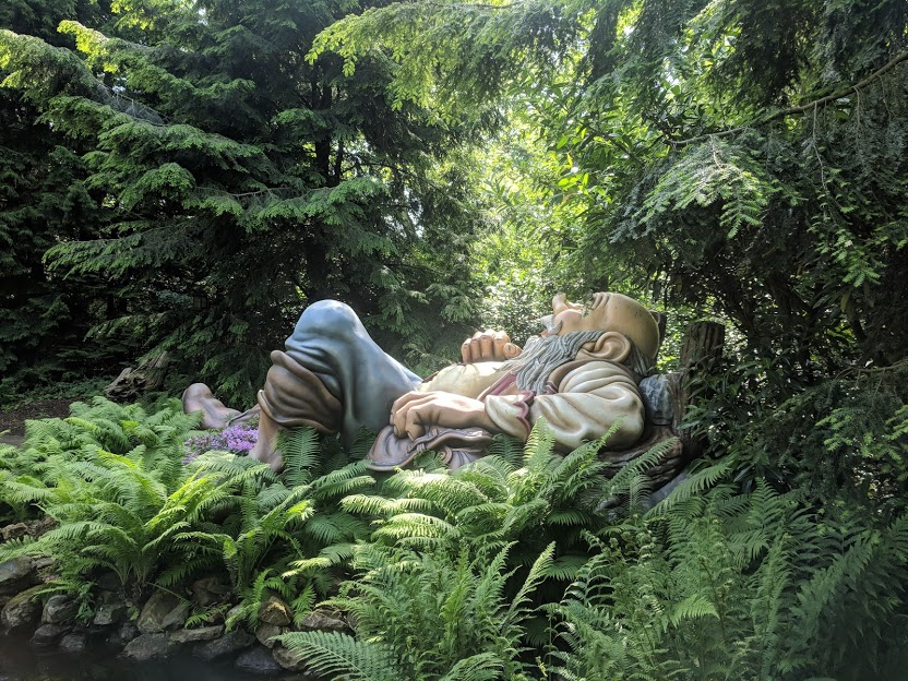 Photos from the Fairytale Forest at Efteling  - sleeping giant