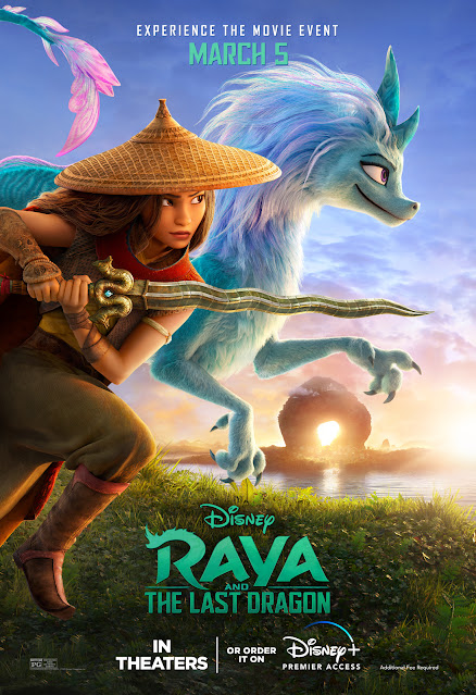 Raya and the Last Dragon poster feature Raya and Sisu
