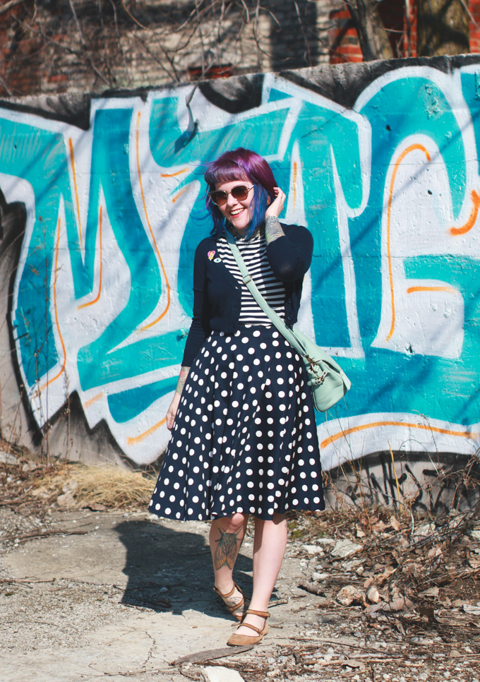 Cleveland Fashion Blog, polka dot skirt, kaylah doolan