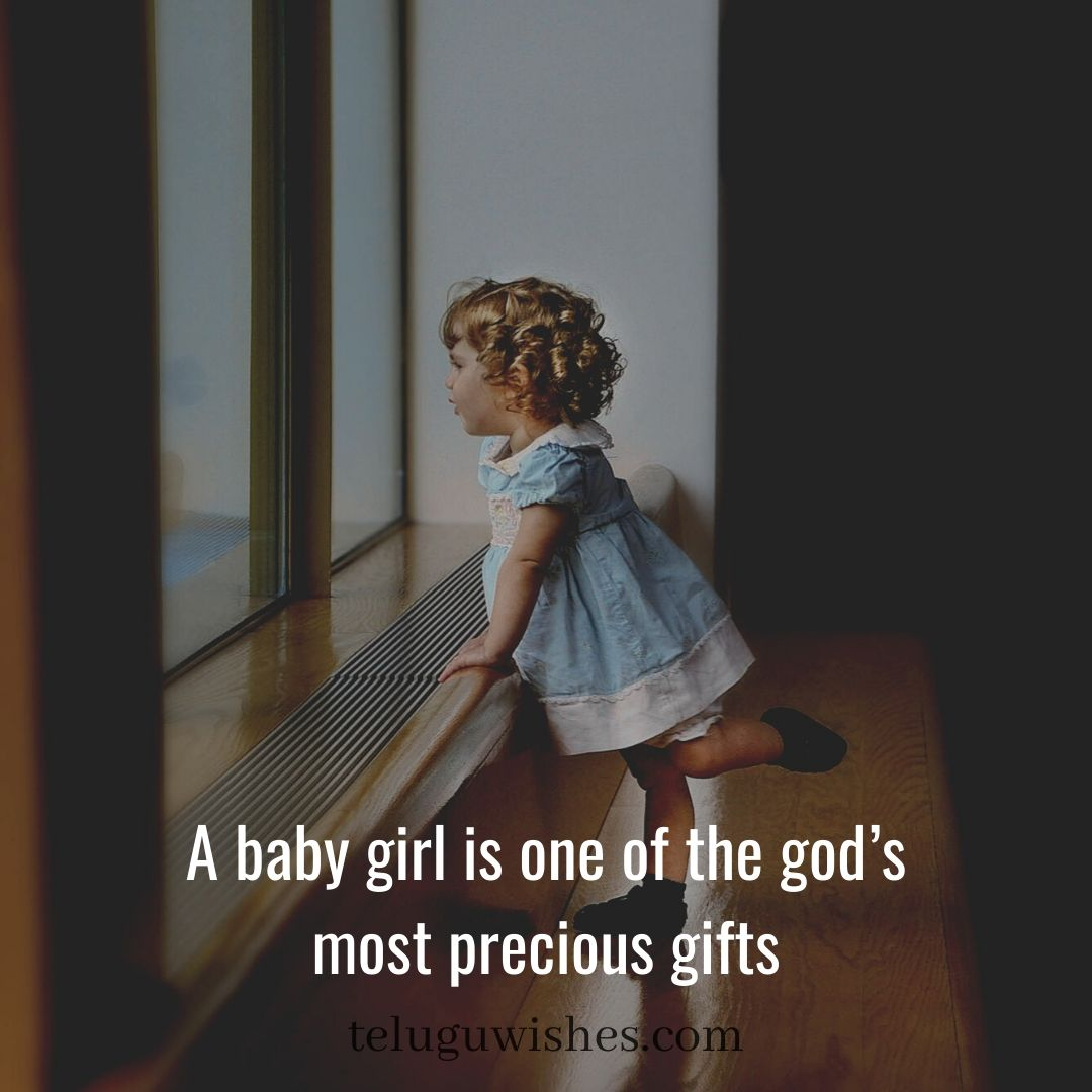a baby girl is one of the god's gift