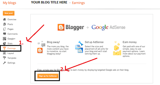 Start Earning With your Blogger Blog