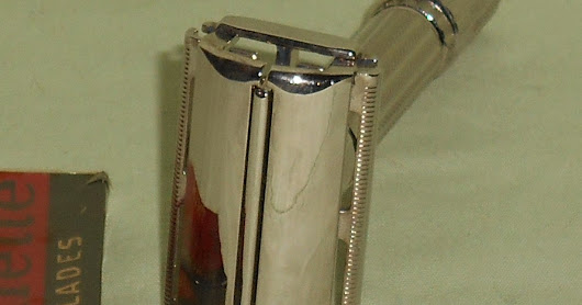 1960 Gillette Refurbished RePlated FatBoy Razor F4–7