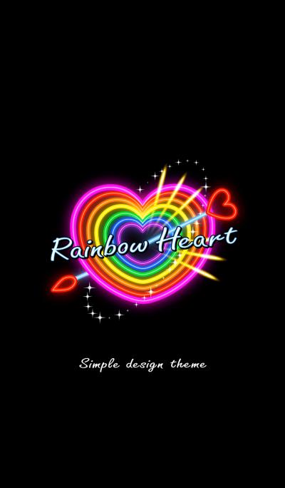 Rainbow Heart Neon