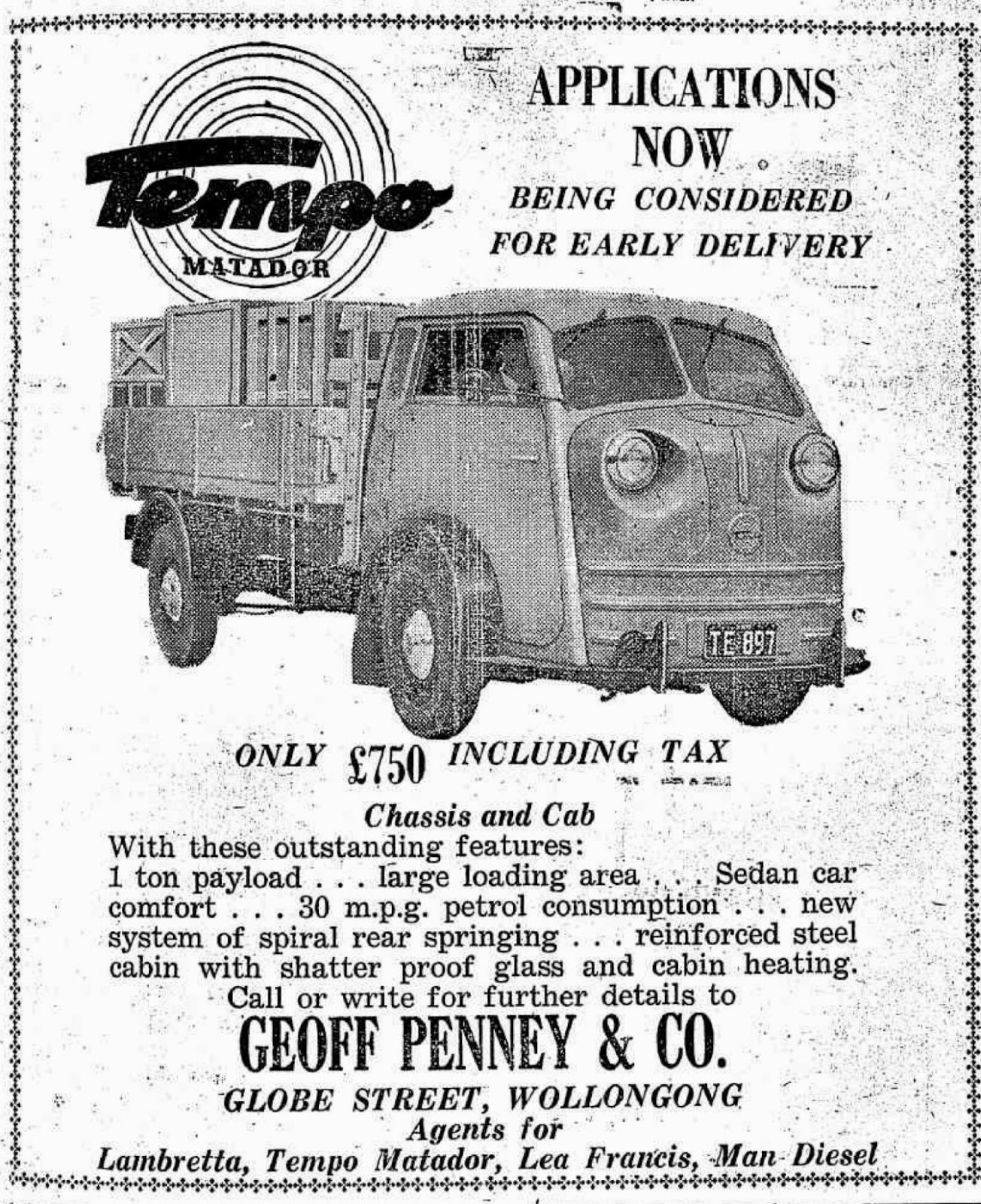 project tempo tempo matador in australia Beatles Vans australia was one of the first countries in the world to import the tempo matador they were imported a number of dealers such as continental motors
