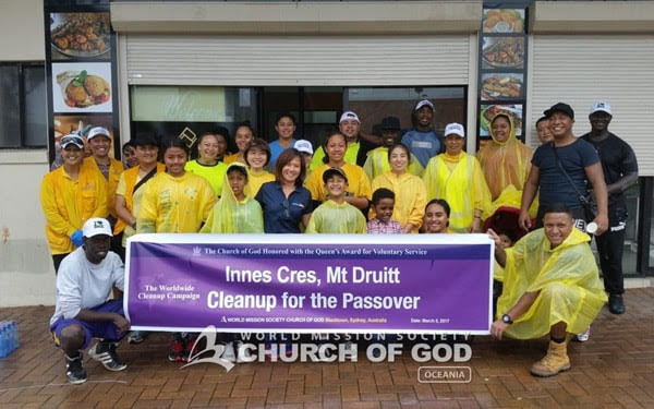 World Mission Society Church of God joins 'Clean Up Australia Day', NSW