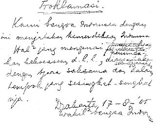 Teks Pidato Ir. Soekarno Saat Proklamasi Isi Kemerdekaan 17 Agustus 1945
