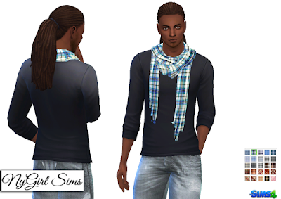 NyGirl Sims 4: Accessory Plaid Scarf