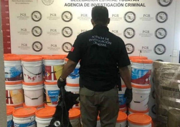 Asegura PGR media tonelada de Droga en Mérida, Yucatán