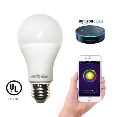 Cxy smart wifi light bulb works with Amazon Alexa