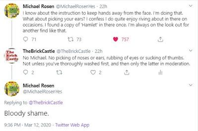Michael Rosen Tweet noses
