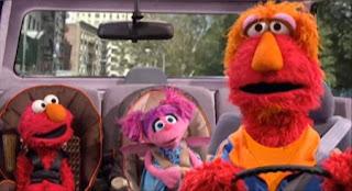 Louie, Elmo and Abby Cadabby. Sesame Street Elmo's Travel Songs and Games