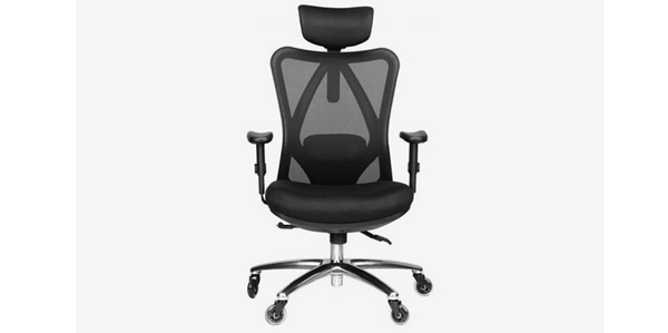 Review 15 Kursi Kantor Terbaik Duramont Ergonomic Adjustable Office Chair with Lumbar Support and Headrest