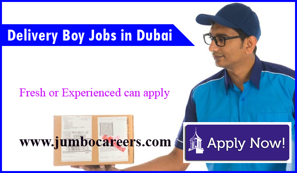 Find all fresh vacancies in Dubai, Delivery boy jobs openings in Dubai,