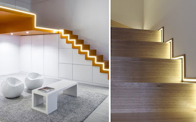 modern LED stair lighting ideas