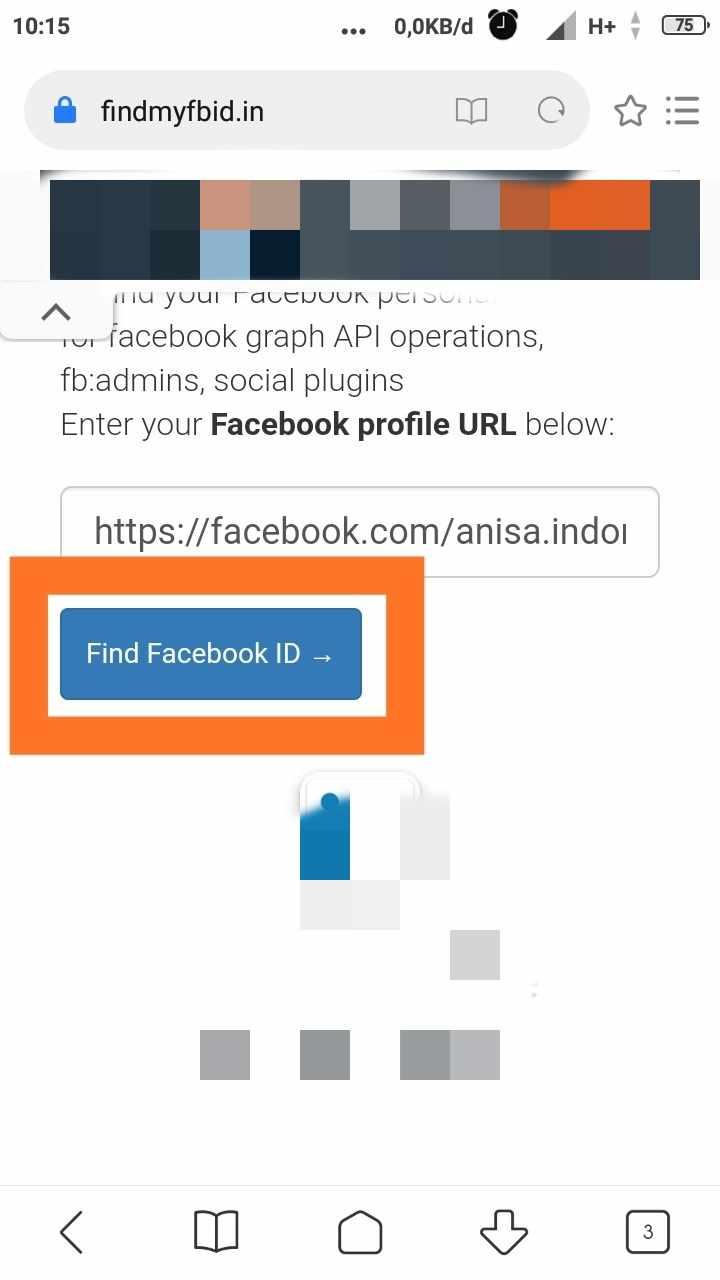 cara mengetahui link username facebook orang lain