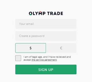 Create a Forex account form