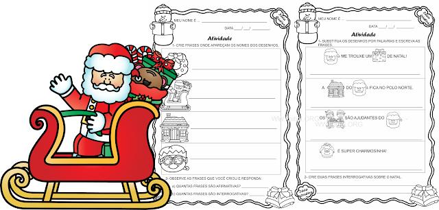 Atividades Língua Portuguesa Projeto Natal