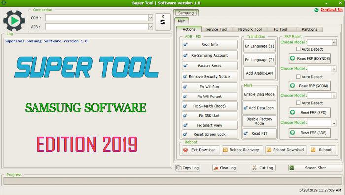 SuperTool Samsung Software Version 1.0 Edition 2019