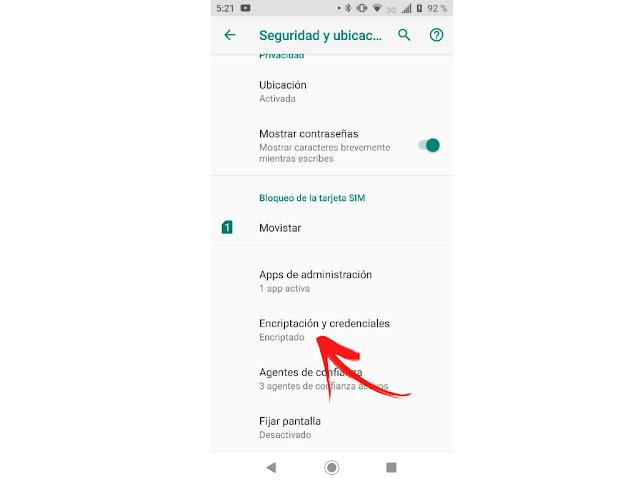 Cómo encriptar smartphone Android