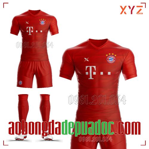 Áo Bayern 2020 Sân Nhà Màu Đỏ Đẹp Và Độc