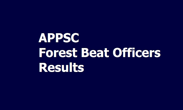 APPSC Forest Beat Officers Results 2019 of Screening Test which was held on June 16