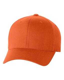 topi baseball orange