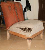 odnawianie fotela na sprężynach