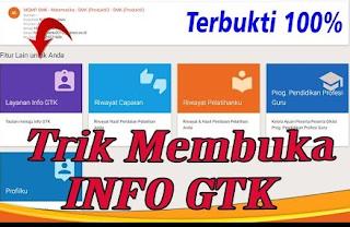 Cara mengatasi Info GTK Tidak Bisa Dibuka