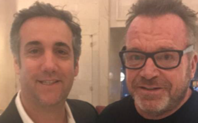 This dude has all the tapes': Actor Tom Arnold meets with Michael Cohen and says former Trump lawyer could help him 'bring Trump down'