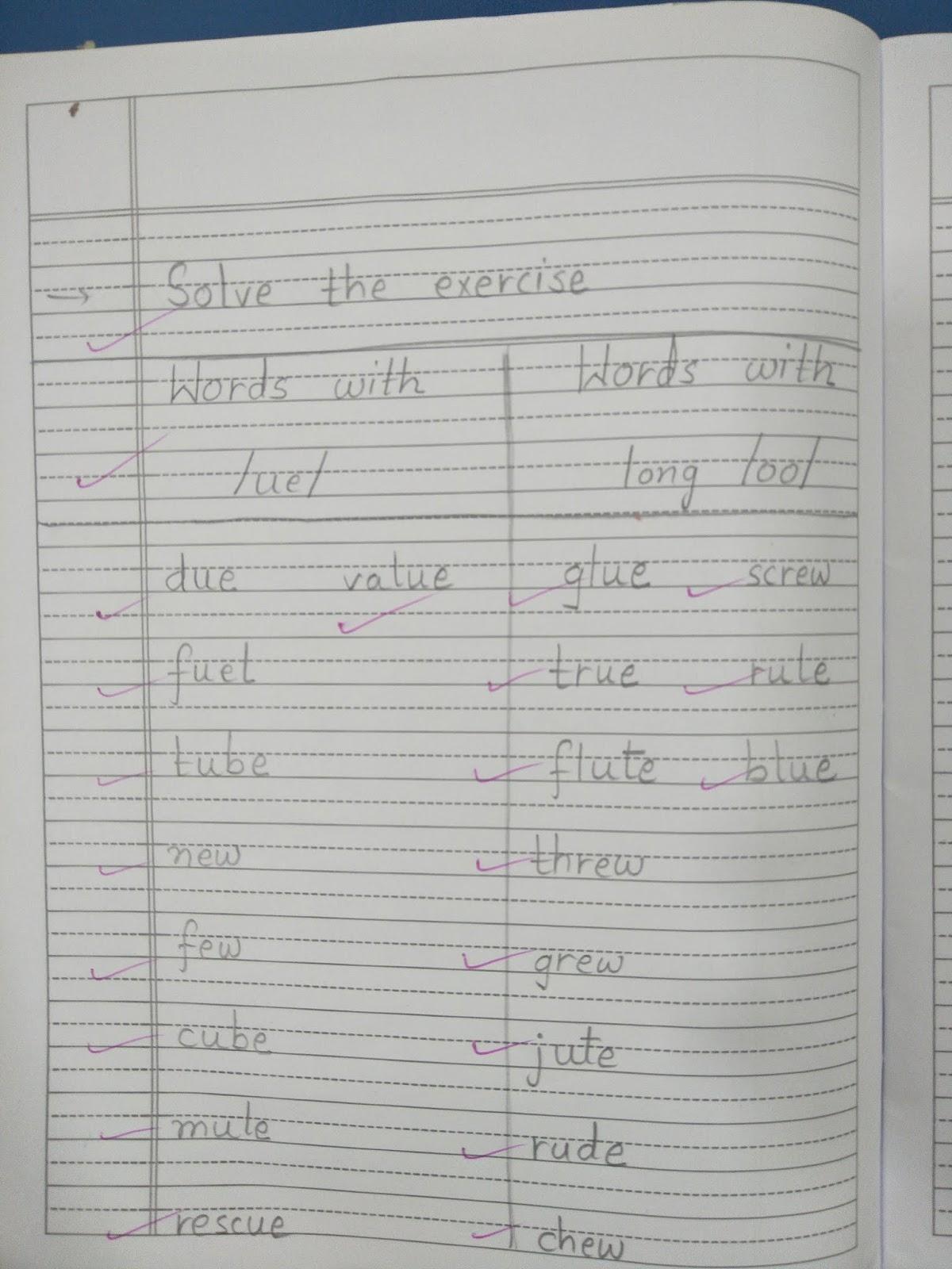 English Ch 14 Walking Vowel /ue/ ( Notebook)