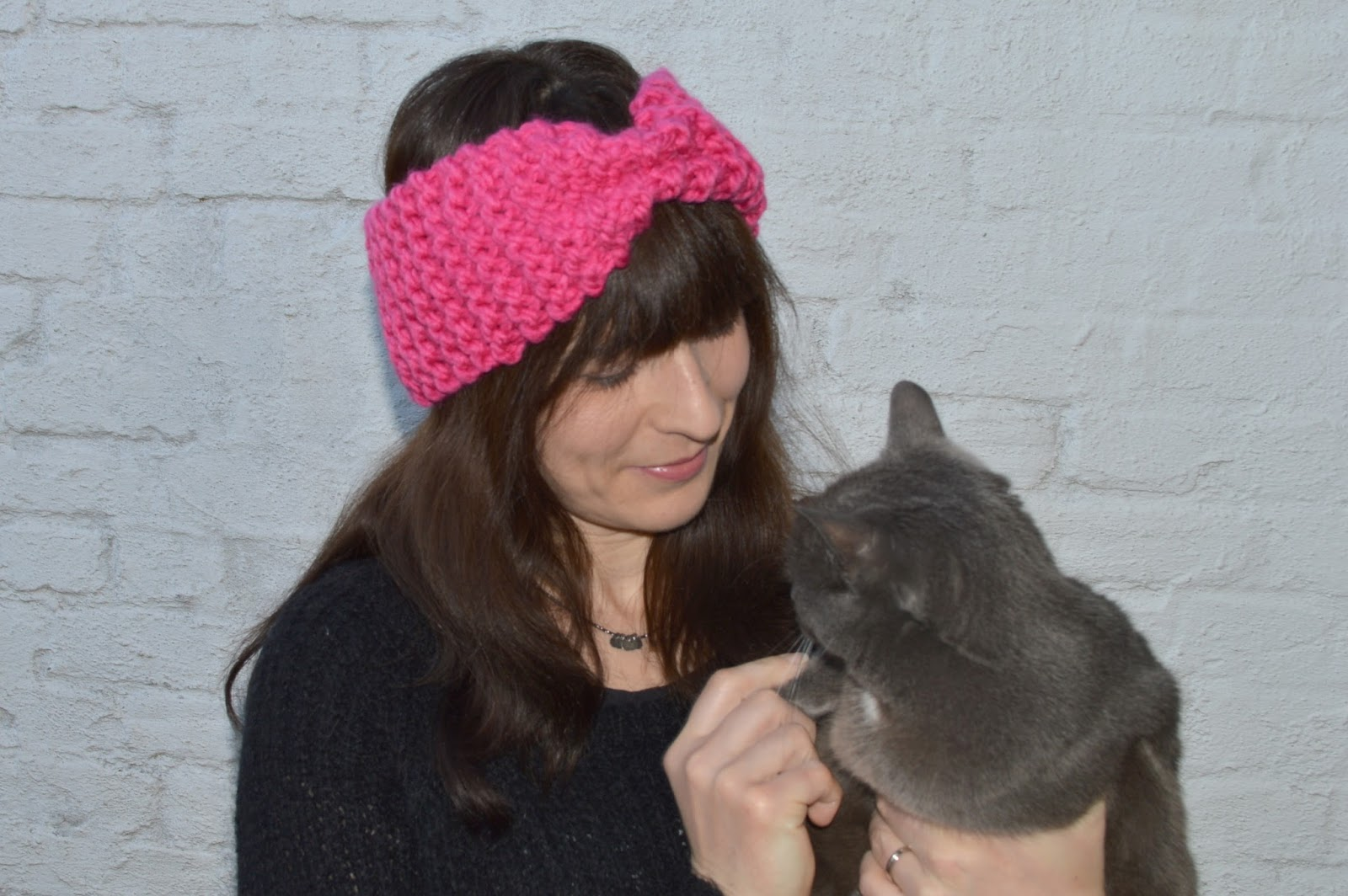 tricoter headband point mousse