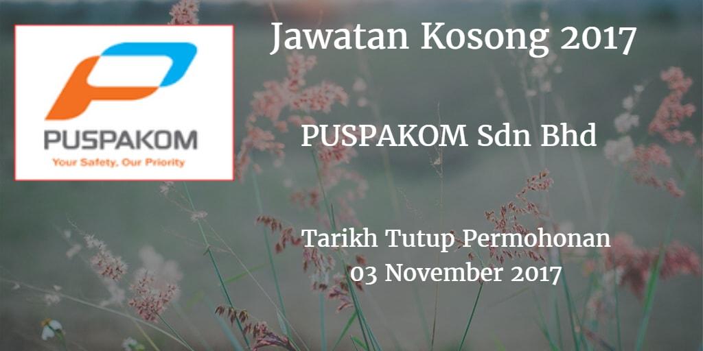 Jawatan Kosong PUSPAKOM Sdn Bhd 03 November 2017