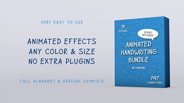 Animated Handwriting Bundle – Free After Effects Template - INSTAVFX