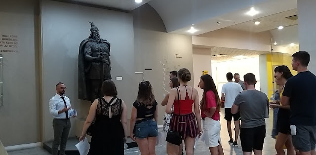 German young people visit the National History Museum of Albania