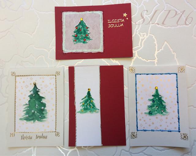 kuusi joulu joulukuusi kortti joulukortti