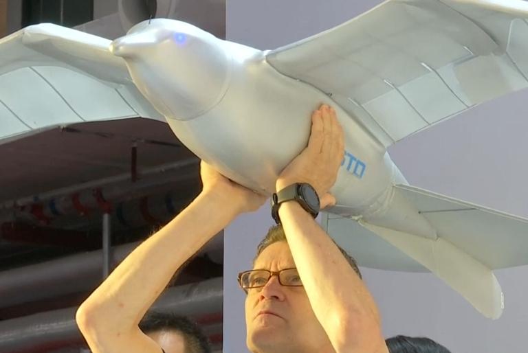 الصين تقدم روبوت على شكل طائر