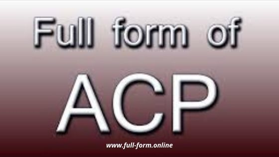 ACP Full Form-acp full form in police department